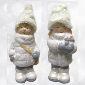 Figurka świąteczna chłopiec / dziewczynka stojąca