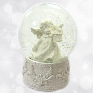Kula szklana z aniołem.