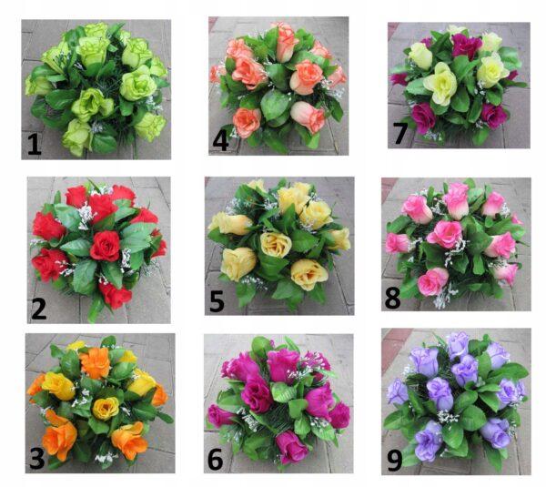 Stroik ze sztucznych róż